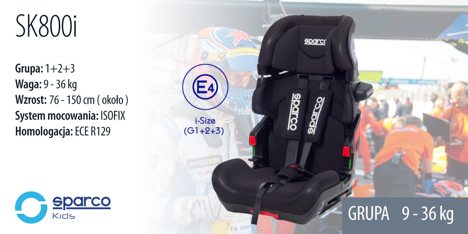 fotelik dla dziecka SPARCO SK800i
